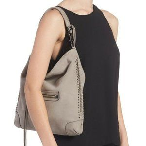Rebecca Minkoff Slim Regan Grey Suede Leather hobo